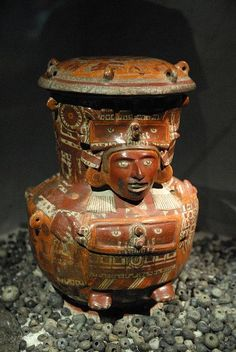 This beautiful ceramic vessel was found at the Aztec Templo Mayor in Mexico City.