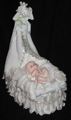 Bebé ducha torta Topper Topper de la torta de bautismo bebé