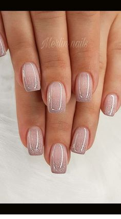 56 Glitter Gel Nail Designs For Short Nails For Spring 2019 Popular Nail Designs, Short Nail Designs, Gel Nail Designs, Bridal Nails Designs, Bridal Nail Art, Bridal Toe Nails, Cute Toe Nails, Pretty Nails, Bride Nails