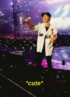 Chen felt so touched after an exo-l gave him a flower, he really deserves a garden.