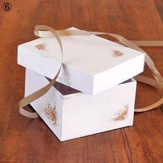 Boîte à gourmandises « Spéciale Macarons » pour cadeau gourmand - Explications & gabarit -