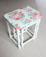 Decopatch decoupage table nest.