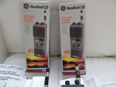 LOT OF  2   GE 40 Channel Transceiver Handheld CB 3-5979 by GE Minty con #GE