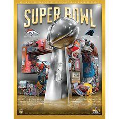 Super Bowl 50 HOLOGRAPHIC Broncos vs Panthers Program- Stadium Version
