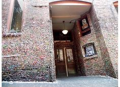 The Market Theater Gum Wall in Post Alley under Pike Place Market, Seattle WA.
