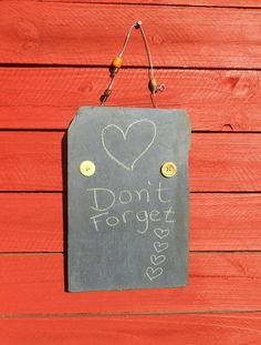 A personal favorite from my Etsy shop https://www.etsy.com/listing/264632205/vintage-roof-slate-hanging-chalkboard