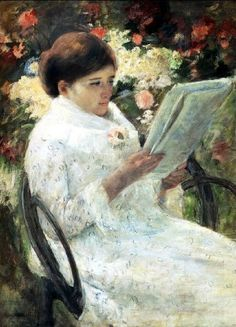 Cassatt, Woman reading in a garden, 1880.