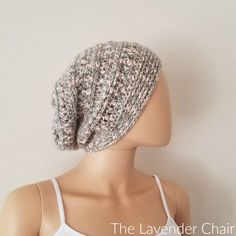 Rocky Road Slouchy Beanie Crochet Pattern - The Lavender Chair