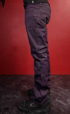 Tripp Purple Pinstripe Joker Pants ... I want a purple pinstriped suit!