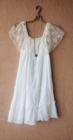 Off Shoulder free size gauze gypsy dress