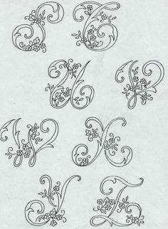 Alfabeto da ricamare con ricamo classico - Paperblog