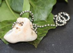 Hag or Holed Stone on a Chain for Luck and by greenwomancrafts, $12.00 Pagan Jewelry, Unique Jewelry, Pearl Necklace, Pearls, Chain, Stone, Trending Outfits, Handmade Gifts, Vintage