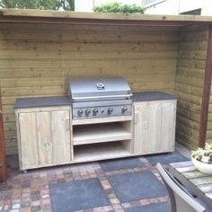 Paradise Outdoor Kitchens For Entertaining Guests Outdoor Kitchen Patio, Outside Patio, Outside Living, Outdoor Kitchen Design, Outdoor Lounge, Outdoor Living, Outdoor Decor, Kitchen Decor, Bbq Shed