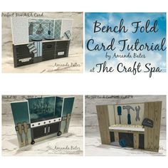 Bench Fold Card Tutorial Series One (Kitchen Range, BBQ & Tool Bench) by Amanda Bates at The Craft Spa. Independent Stampin' Up! UK Demonstrator, Blogger & Online Shop