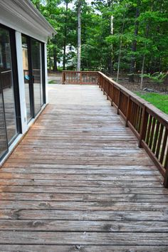 how to clean a stained wood deck
