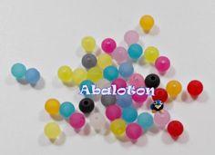 bolas acrilicas efecto hielo 6mm