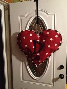 Valentine Day Monogrammed Heart