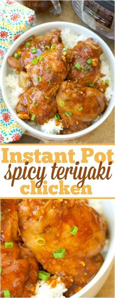 The most incredible Instant Pot spicy teriyaki chicken thighs! Moist chicken with a thick sweet and spicy sauce you'll love. Amazing pressure cooker recipe. via @thetypicalmom