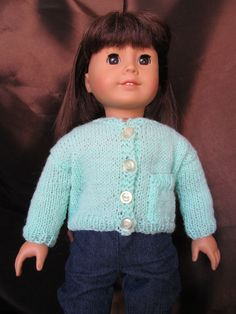 Sweater for 18'' Dolls, as seen on American Girl,Turquoise Sweater,Outer Wear, Spring and Summer Wear, Cute Sweater, Sweater with Pocket by SewManyThingsbyNancy on Etsy