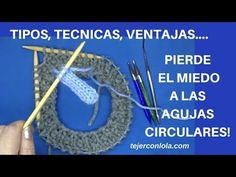 TEJER CON AGUJAS CIRCULARES. TÉCNICA Y VENTAJAS - YouTube Loom Knitting Projects, Knitting Videos, Knitting Stitches, Baby Knitting, Knit Crochet, Crochet Hats, Some Ideas, Needlework, Crochet Earrings