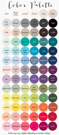Livettes wallpaper color palette