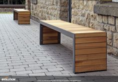 Industrieel tuinbankje hout met staal