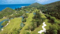 10 of the best golf courses in Africa: The Lemuria Resort on Praslin Island in the Seychelles is the only course in this magnificent Indian Ocean archipelago. The beautiful layout more than makes up for the challenge it presents golfers. Famous Golf Courses, Public Golf Courses, Seychelles Hotels, Seychelles Islands, Coeur D Alene Resort, Holiday Hotel, Unique Hotels, Luxury Holidays, Africa Travel
