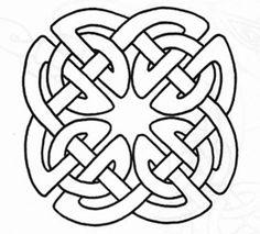 Celtic knot pattern motif