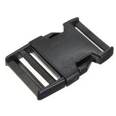 NEWBRAND 10pcs boucles plastiques clips paracord pour sangle fermoir bracelet paracorde noir 38mm