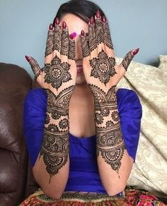 Indian Bridal Henna Mehndi Tat 27 Super Ideas You can find different rumors about the history of the marriage … Wedding Henna Designs, Engagement Mehndi Designs, Latest Bridal Mehndi Designs, Indian Mehndi Designs, Full Hand Mehndi Designs, Henna Art Designs, Mehndi Designs For Girls, Mehandi Designs, New Simple Mehndi Designs
