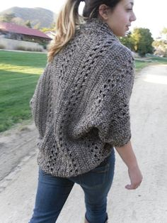 I might need to make this- Crochet X-Stitch Shrug
