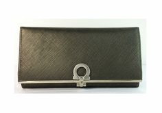 Salvatore Ferragamo Mercurio Gancini Icona Leather Wallet $325, originally $425. This wallet is available through Shop-hers.Com, closet name - Pommeverte