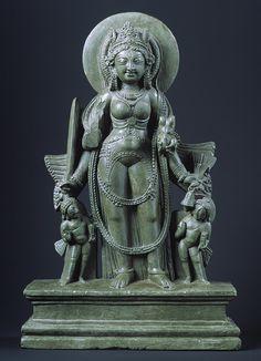 laye 9 th century Standing Four-armed goddess Durga [India] (1984.488) | Heilbrunn Timeline of Art History | The Metropolitan Museum of Art