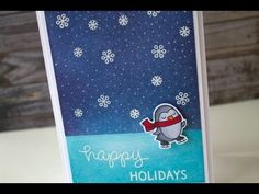 Tracy Mae Design: Holiday Card Series Day 2014 #17 - Lawn Fawn + Distress Inks