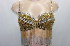 eBay   BELLY DANCE DANSE ORIENTALE COSTUME OR ARGENT SEXY LINGERIE FOULARD ENSEMBLE NEU