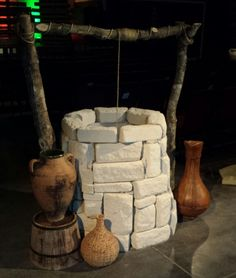 "Stone well for our church Christmas program  "" Walk through Bethlehem """