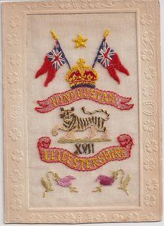 British Embroidered Postcard
