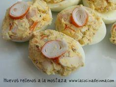 Huevos rellenos a la Mostaza