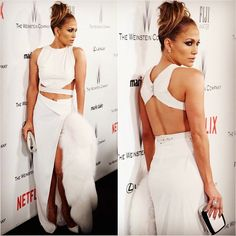 2015 Golden Globe Awards: Jennifer Lopez in Amanda Wakely