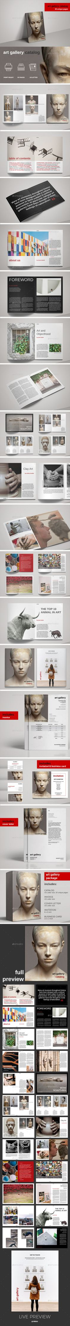Art Gallery Exhibition Catalog — InDesign INDD #artist #minimal • Available here → https://graphicriver.net/item/art-gallery-exhibition-catalog/17647412?ref=pxcr