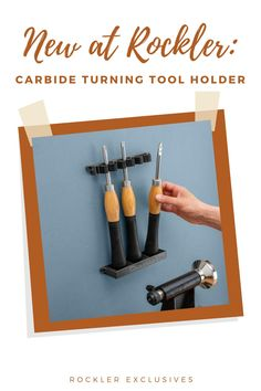 This incredible gadget keeps your turning tools organized and easily accessible at all times—chain several together to fit all of your tools!  #newatrockler #rocklerinnovations #turningtools #carbideturningtools #shoporganization Rockler Woodworking, Woodworking Hand Tools, Woodworking Crafts, Woodworking Projects, Turning Tools, Wood Turning Projects, Lathe Accessories, Wood Carving Tools, Lathe Tools