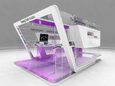 BOOTH by JULIAN JAIME at Coroflot.com Exhibition Ideas, Exhibition Stand Design, Exhibition Display, Pop Display, Display Design, Booth Decor, Glass Cube, Environmental Design, Kiosk