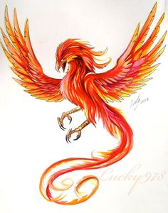 Phoenix Tattoo Design by Lucky978.deviantart.com on @deviantART