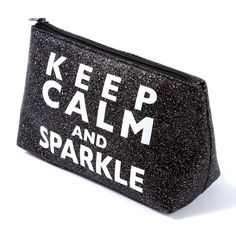 Keep Calm and Sparkle Cosmetic Bag Cosmetic Pouch, Makeup Case, Bridal Accessories, Icing, Hair Beauty, Sparkle, Calm, Cosmetics, Shoulder Bag