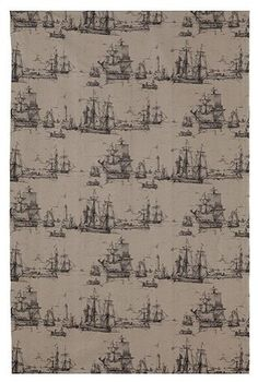 Old world-style curtain for kids pirate room