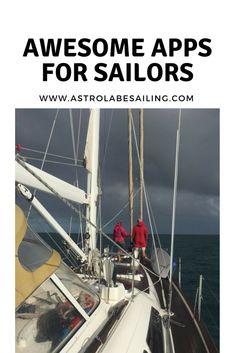 The best apps for sailing and sailors. Sailing Basics, Sailing Lessons, Sailing Catamaran, Us Sailing, Sailboat Cruises, Sailboat Living, Living On A Boat, Liveaboard Sailboat, Boating Tips