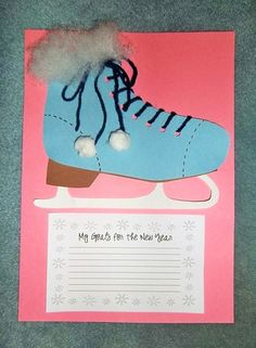 Skating Into A New Year: A New Years and Winter Craftivity - Neujahr Writing Lessons, Teaching Writing, Writing Activities, Classroom Activities, Classroom Ideas, Craft Activities, Writing Prompts, Teaching Ideas, New Years Activities