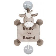 Conduire peut parfois être stressant. Le bébé à bord à l'effigie de Noa le cheval Nattou, avertira les automobilistes que vous transportez un enfant. Ils seront ainsi sensibilisés, et adopteront un comportement plus vigilant vis à vis de vous. #bébéàbord #nattou #babyonboard #bébéàbordnattou #noalecheval #signalétique #accessoirevoiture