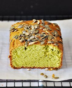 Avocado & Lime Loaf Topped with Pepitas
