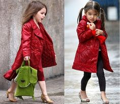 Kids Red Coat - Coat Nj